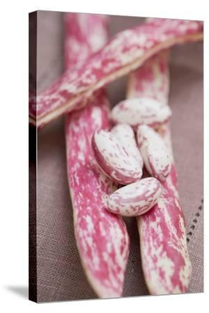 Borlotti Beans, Shelled and Unshelled-Foodcollection-Stretched Canvas Print