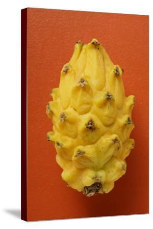 Pitahaya on Red Background-Foodcollection-Stretched Canvas Print