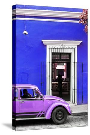 ¡Viva Mexico! Collection - Volkswagen Beetle Car - Royal Blue & Purple-Philippe Hugonnard-Stretched Canvas Print