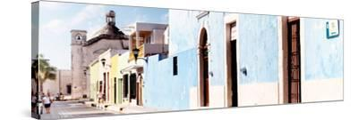 ¡Viva Mexico! Panoramic Collection - Urban Scene Campeche IV-Philippe Hugonnard-Stretched Canvas Print