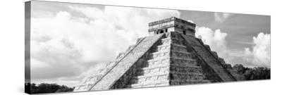 ¡Viva Mexico! Panoramic Collection - El Castillo Pyramid in Chichen Itza III-Philippe Hugonnard-Stretched Canvas Print