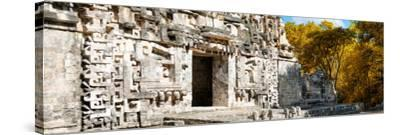 ¡Viva Mexico! Panoramic Collection - Hochob Mayan Pyramid III-Philippe Hugonnard-Stretched Canvas Print