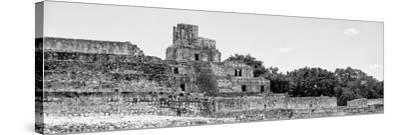 ¡Viva Mexico! Panoramic Collection - Maya Archaeological Site - Edzna V-Philippe Hugonnard-Stretched Canvas Print