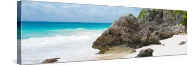 ?Viva Mexico! Panoramic Collection - Caribbean Coastline - Tulum IV-Philippe Hugonnard-Stretched Canvas Print