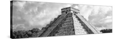 ¡Viva Mexico! Panoramic Collection - El Castillo Pyramid - Chichen Itza II-Philippe Hugonnard-Stretched Canvas Print