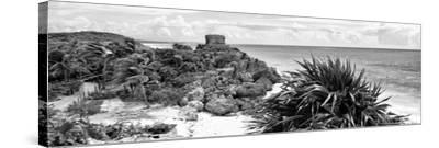 ¡Viva Mexico! Panoramic Collection - Caribbean Coastline in Tulum VII-Philippe Hugonnard-Stretched Canvas Print