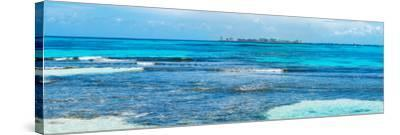¡Viva Mexico! Panoramic Collection - Caribbean Coastline overlooking Cancun-Philippe Hugonnard-Stretched Canvas Print