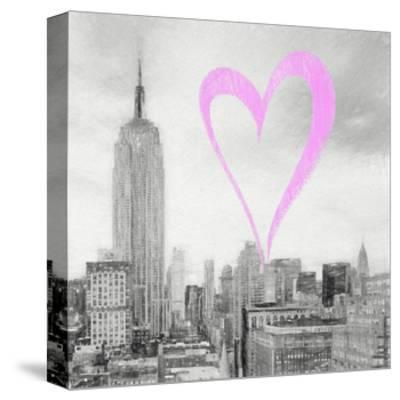 Luv Collection - New York City - The Cityscape II-Philippe Hugonnard-Stretched Canvas Print