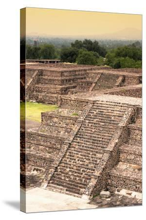 ¡Viva Mexico! Collection - Teotihuacan Pyramids-Philippe Hugonnard-Stretched Canvas Print