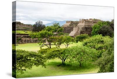 ¡Viva Mexico! Collection - Pyramid of Monte Alban-Philippe Hugonnard-Stretched Canvas Print