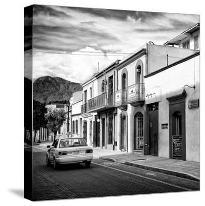¡Viva Mexico! Square Collection - Oaxaca Street with Yellow Taxi II-Philippe Hugonnard-Stretched Canvas Print