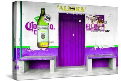 "?Viva Mexico! Collection - ""ALASKA"" Purple Bar-Philippe Hugonnard-Stretched Canvas Print"