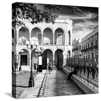 ¡Viva Mexico! Square Collection - Architecture Campeche III-Philippe Hugonnard-Stretched Canvas Print