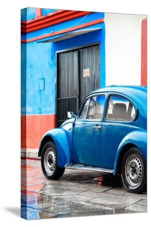 ¡Viva Mexico! Collection - VW Beetle Car and Blue Wall-Philippe Hugonnard-Stretched Canvas Print
