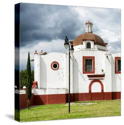 ¡Viva Mexico! Square Collection - Mexican Church-Philippe Hugonnard-Stretched Canvas Print