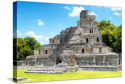 ¡Viva Mexico! Collection - Maya Archaeological Site IV - Edzna Campeche-Philippe Hugonnard-Stretched Canvas Print