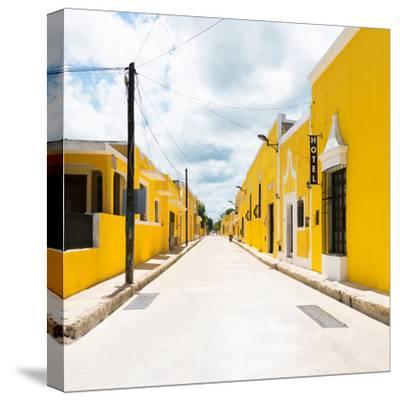 ¡Viva Mexico! Square Collection - The Yellow City II - Izamal-Philippe Hugonnard-Stretched Canvas Print