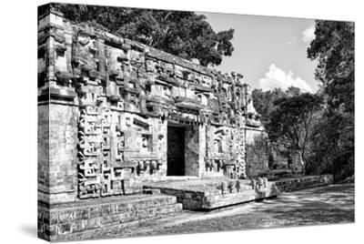 ¡Viva Mexico! B&W Collection - Hochob Mayan Pyramids III - Campeche-Philippe Hugonnard-Stretched Canvas Print