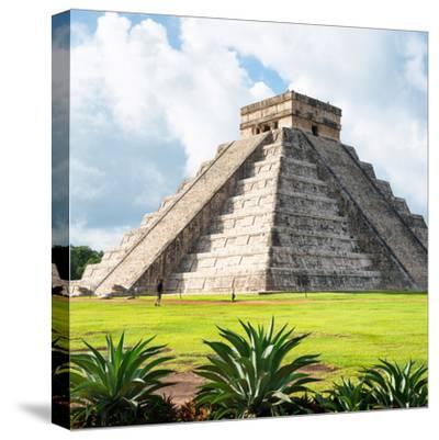¡Viva Mexico! Square Collection - El Castillo Pyramid - Chichen Itza III-Philippe Hugonnard-Stretched Canvas Print