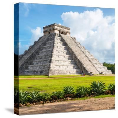 ¡Viva Mexico! Square Collection - El Castillo Pyramid in Chichen Itza V-Philippe Hugonnard-Stretched Canvas Print