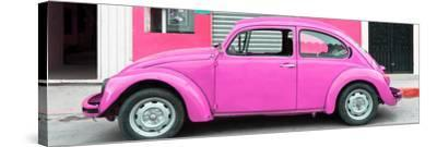 ¡Viva Mexico! Panoramic Collection - Hot Pink VW Beetle Car-Philippe Hugonnard-Stretched Canvas Print