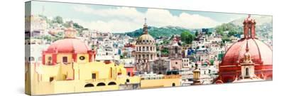 ¡Viva Mexico! Panoramic Collection - Guanajuato Cityscape IV-Philippe Hugonnard-Stretched Canvas Print