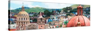 ¡Viva Mexico! Panoramic Collection - Guanajuato Church Domes I-Philippe Hugonnard-Stretched Canvas Print