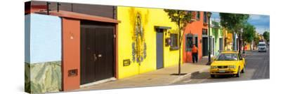 ¡Viva Mexico! Panoramic Collection - Colorful Mexican Street-Philippe Hugonnard-Stretched Canvas Print