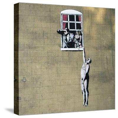 Scandal-Banksy-Stretched Canvas Print