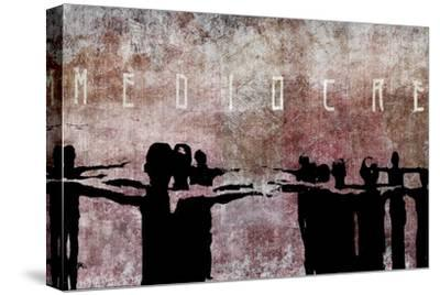 Mediocre-Banksy-Stretched Canvas Print