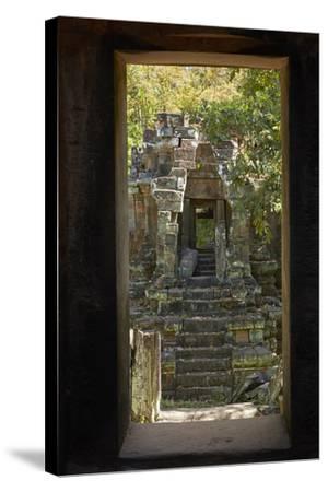 North Khleang Temple, Angkor Thom, Angkor World Heritage Site, Siem Reap, Cambodia-David Wall-Stretched Canvas Print