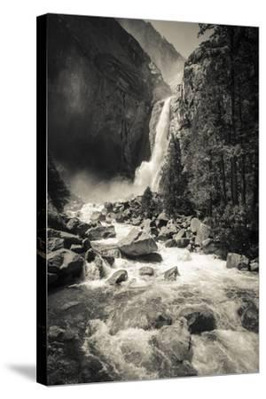 Lower Yosemite Falls, Yosemite National Park-Russ Bishop-Stretched Canvas Print