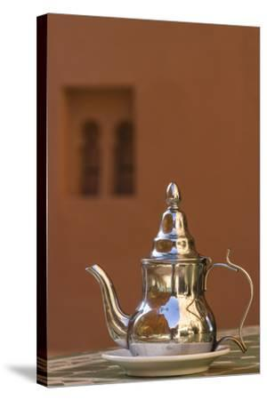Africa, Morocco, Dades Gorge. Tea Service Reflects the Colors of Steep Walls-Brenda Tharp-Stretched Canvas Print