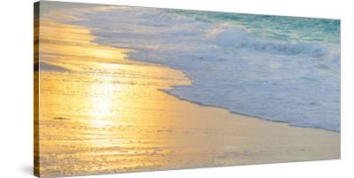 Bahamas, Little Exuma Island. Sunset on Beach-Jaynes Gallery-Stretched Canvas Print