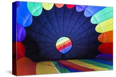 Massachusetts, Hudson, Ballon Festival, Hot Air Balloon Interior-Walter Bibikow-Stretched Canvas Print