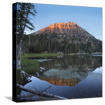 Sunset at Bald Mountain and Moosehorn Lake, Uinta Mountains, Utah-Tim Fitzharris-Stretched Canvas Print