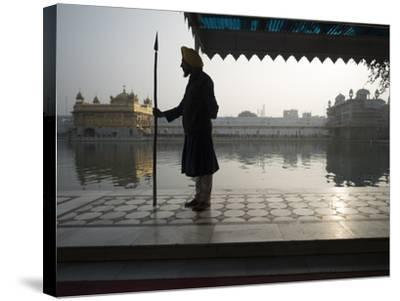 Guards at Golden Temple in Amritsar, Punjab, India-David H^ Wells-Stretched Canvas Print