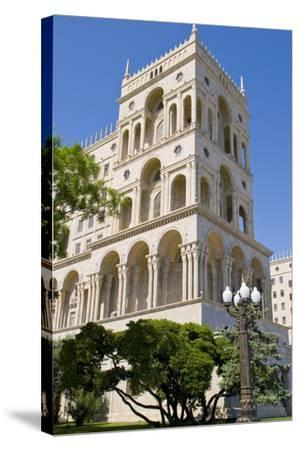 The House of Government, Baku, Azerbaijan-Michael Runkel-Stretched Canvas Print
