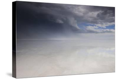 Passing Thunderstorm over Bonneville Salt Flats, Utah-Judith Zimmerman-Stretched Canvas Print