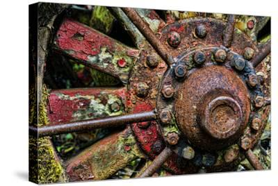 Washington State, Forks. Detail of Antique Logging Equipment-Jaynes Gallery-Stretched Canvas Print