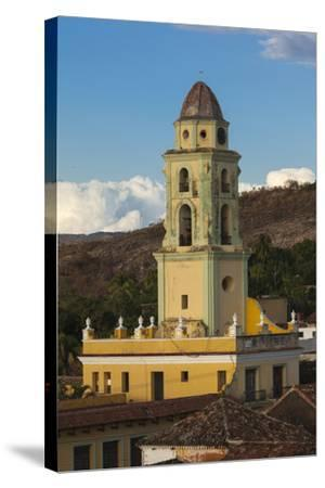 Cuba, Trinidad. a Church in the Historic Center of Town-Brenda Tharp-Stretched Canvas Print