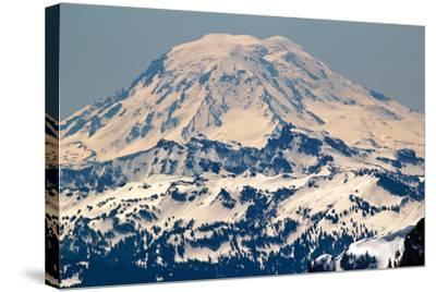 Snowy Mount Saint Adams Mountain Glacier from Crystal Mountain-William Perry-Stretched Canvas Print