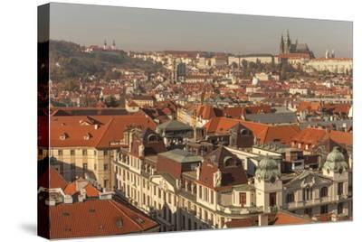 Birds Eye View from Old Town Square. Church of Our Lady of Tryn. Prague. Czech Republic-Tom Norring-Stretched Canvas Print