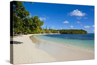 White Sand Beach Bay De Kanumera, Ile Des Pins, New Caledonia, Melanesia, South Pacific-Michael Runkel-Stretched Canvas Print