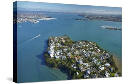 Stanley Point, Waitemata Harbour, and Auckland Harbour Bridge, Auckland, North Island, New Zealand-David Wall-Stretched Canvas Print
