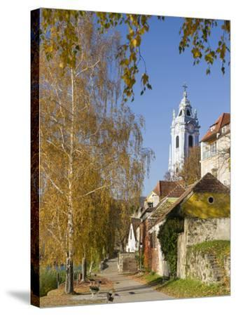 Collegiate Church in Durnstein, an Icon of the Wachau Area. Austria-Martin Zwick-Stretched Canvas Print
