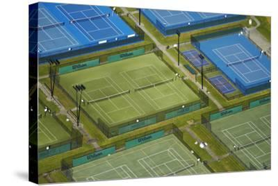 Tennis Courts, Albany, Auckland, North Island, New Zealand-David Wall-Stretched Canvas Print