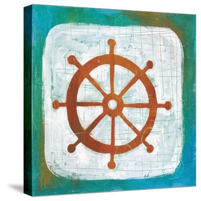 Ahoy IV Red Blue-Melissa Averinos-Stretched Canvas Print