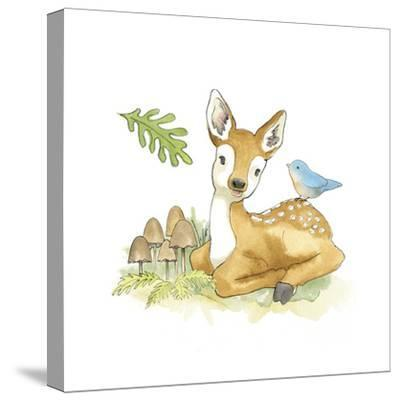 Baby Woodland III-Beth Grove-Stretched Canvas Print