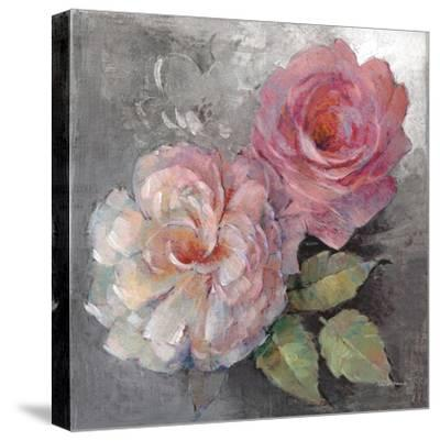 Roses on Gray I Crop-Peter McGowan-Stretched Canvas Print
